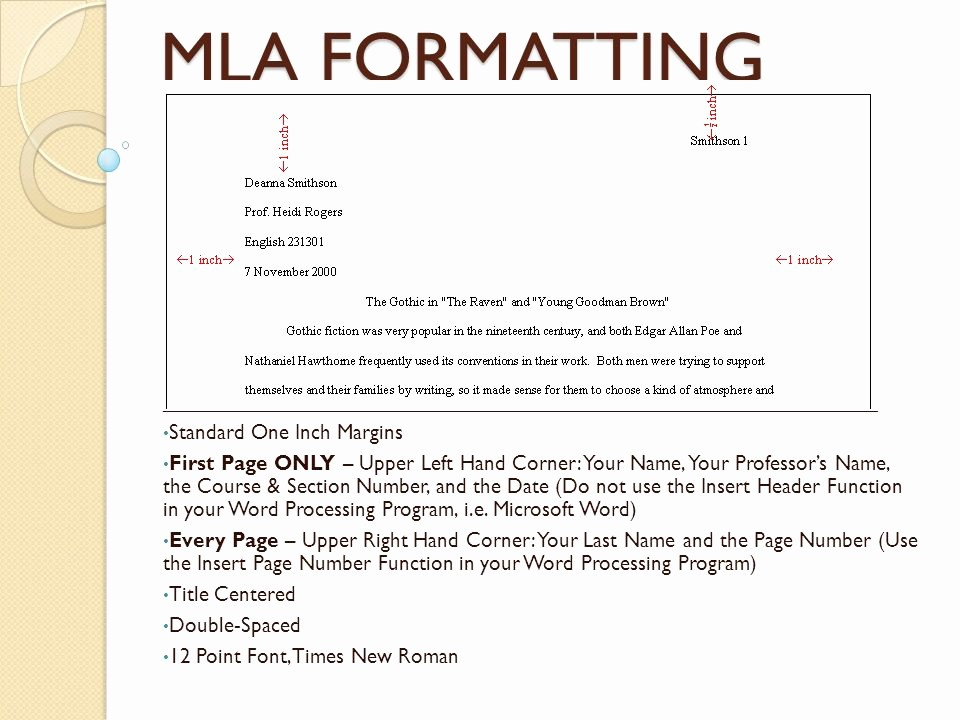 12 Point Font Double Spaced Awesome Mla formatting Ppt