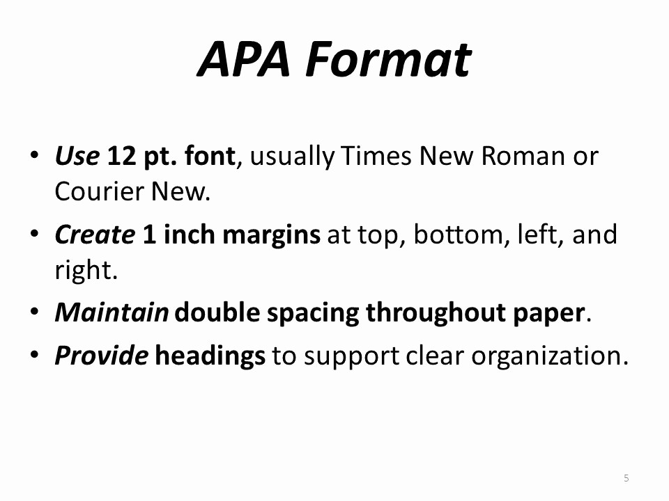 12 Point Font Double Spaced Best Of Apa Pointers How to organize & format Research Papers