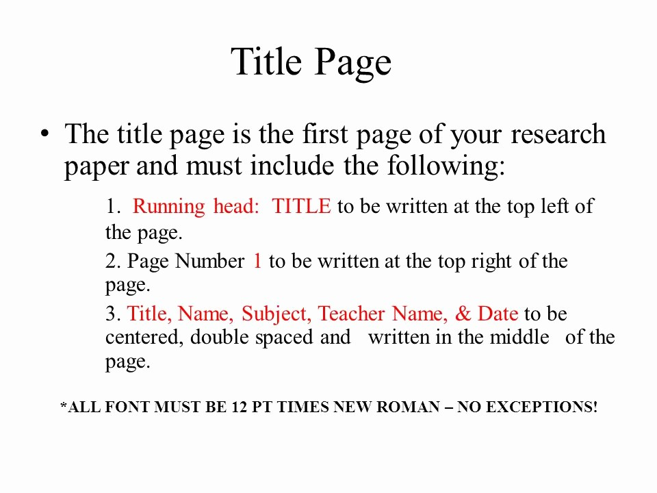 12 Point Font Double Spaced Elegant Apa format Basics Ppt