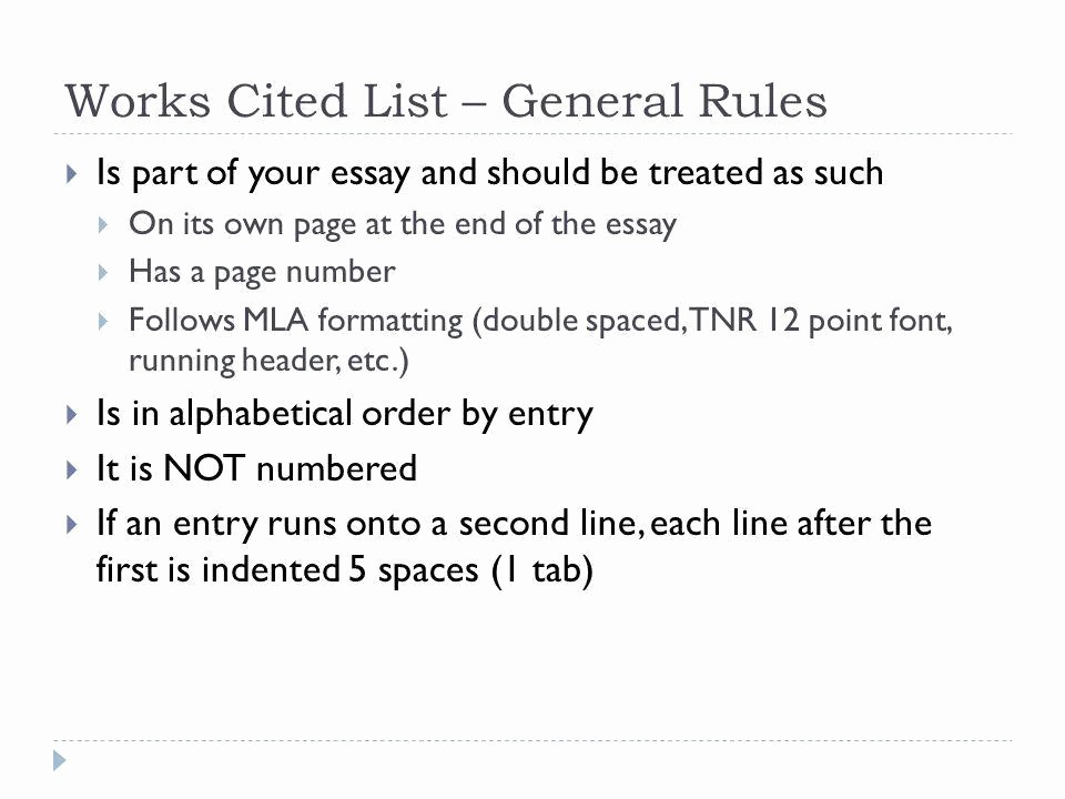 12 Point Font Double Spaced Elegant Citations and Works Cited Lists Ppt Video Online