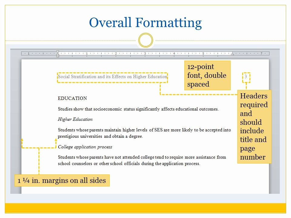 12 Point Font Double Spaced Lovely asa format and Citation Ppt Video Online