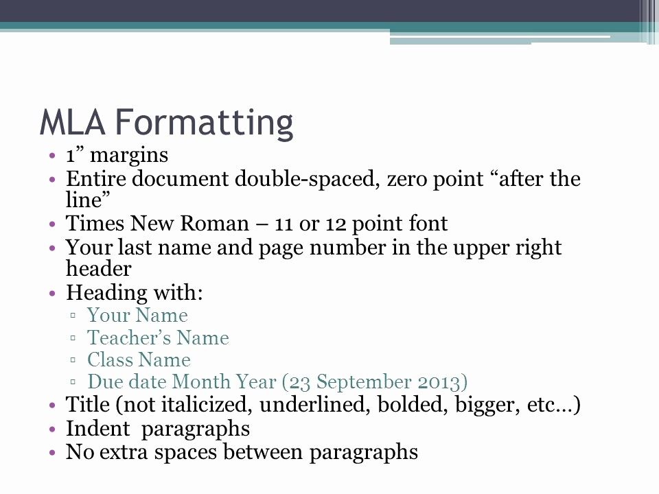12 Point Font Double Spaced Lovely organizing A formal Paragraph Ppt Video Online