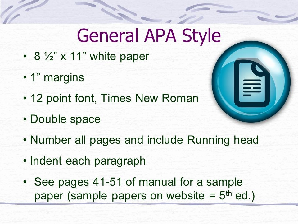 12 Point Font Double Spaced Lovely Writing In Apa Style 6th Edition Ppt Video Online