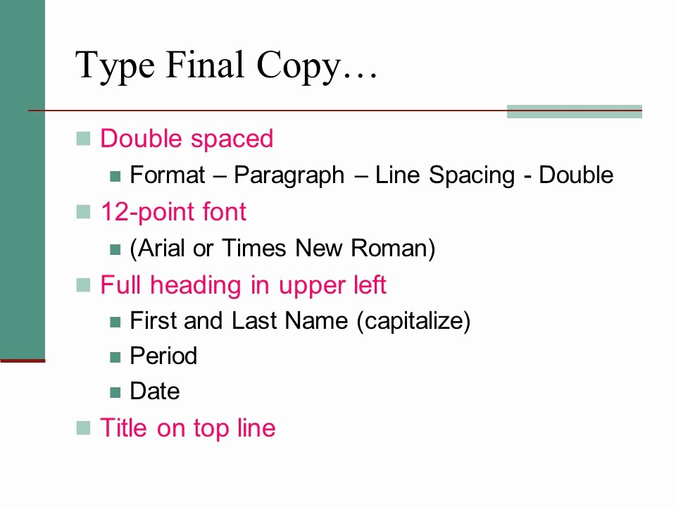 12 Point Font Double Spaced Luxury Parison Contrast Essay Ppt Video Online