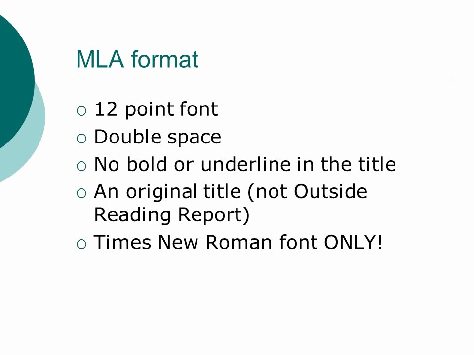 12 Point Font Double Spaced Luxury the Jane Schaffer format Ppt