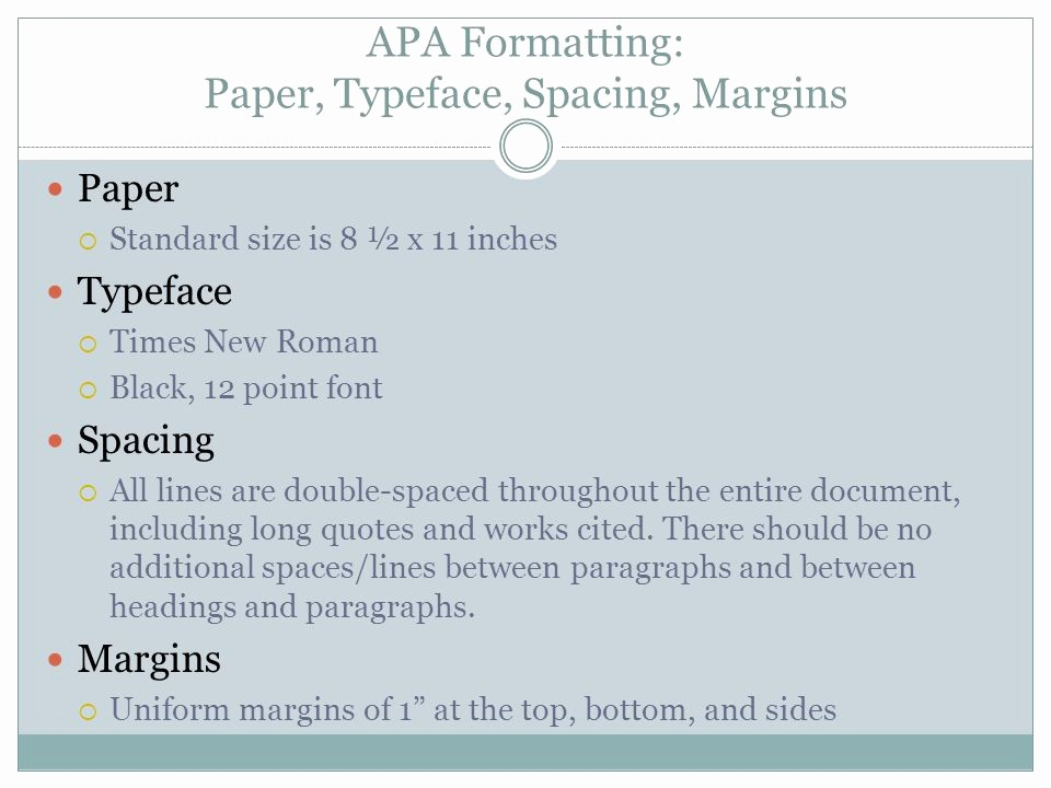 12 Point Font Double Spaced New 6th Edition Apa Writing Styles Ppt