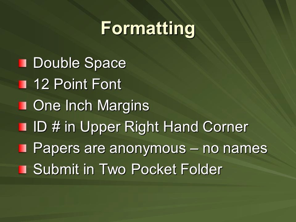 12 Point Font Double Spaced New Its Purpose Your Preparation Ppt