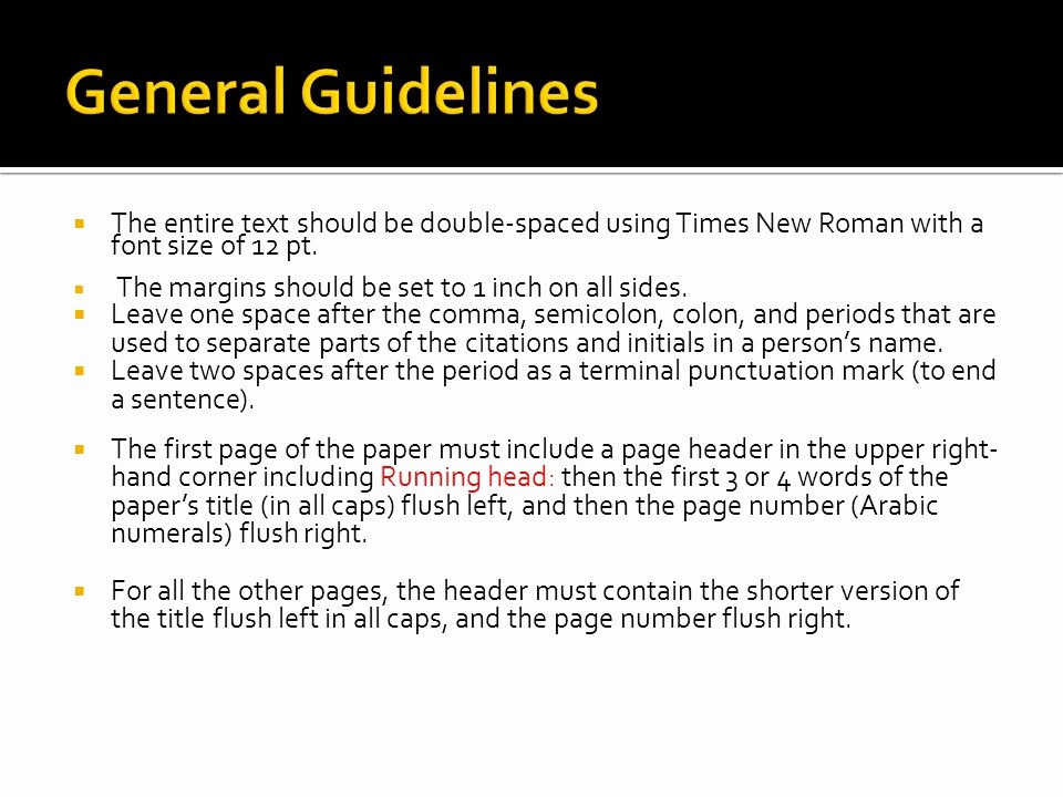 12 Point Font Double Spaced Unique Apa Documentation Style Ppt Video Online