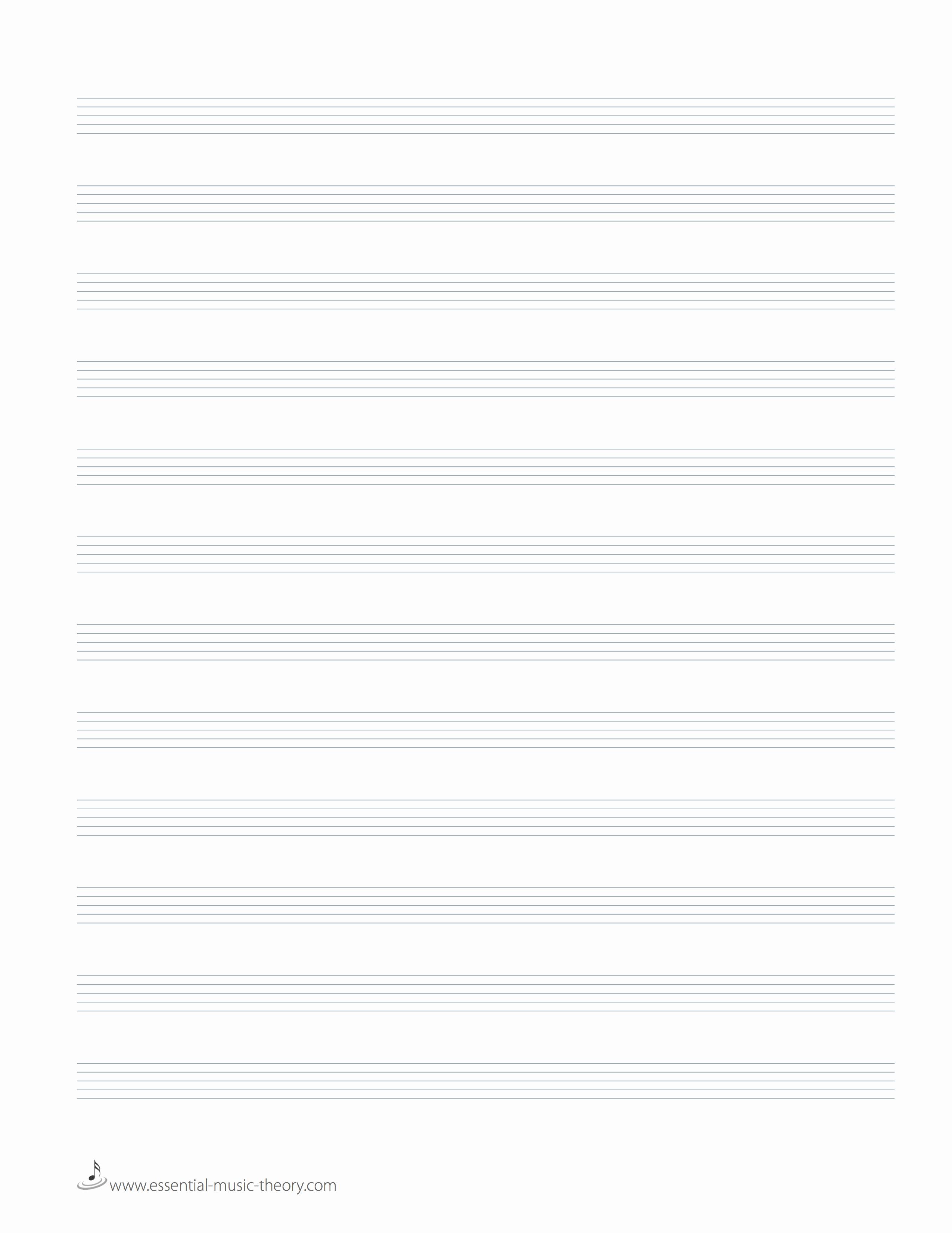 12 Stave Manuscript Paper Pdf Awesome Blank Manuscript Paper