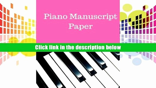 12 Stave Manuscript Paper Pdf Beautiful Download [pdf] Piano Manuscript Paper Treble Clef and