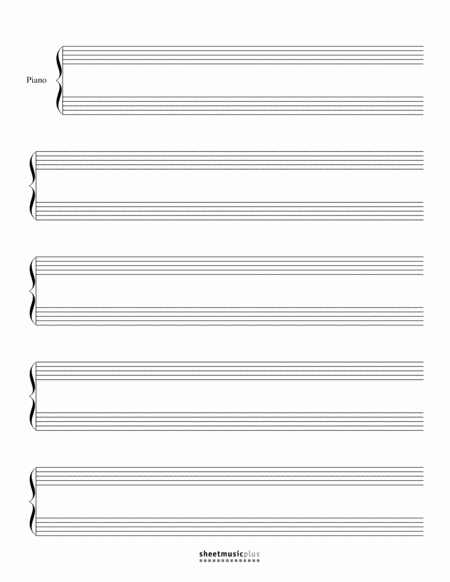 12 Stave Manuscript Paper Pdf Best Of Download Grand Staff Manuscript Paper Blank Sheet Music