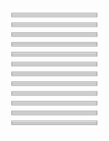 12 Stave Manuscript Paper Pdf Elegant Music Staff Paper 12 Per Page