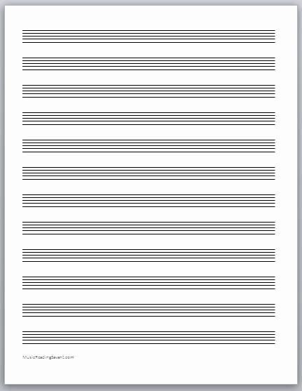 12 Stave Manuscript Paper Pdf Fresh Content 2013