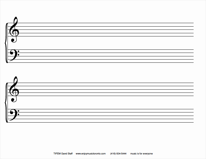 12 Stave Manuscript Paper Pdf Inspirational Blank Grand Staff Sheets Staruptalent