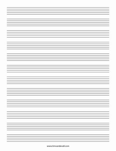 12 Stave Manuscript Paper Pdf Inspirational Blank Music Staff Paper Pdf 6 10 12 Stave Sheet Music