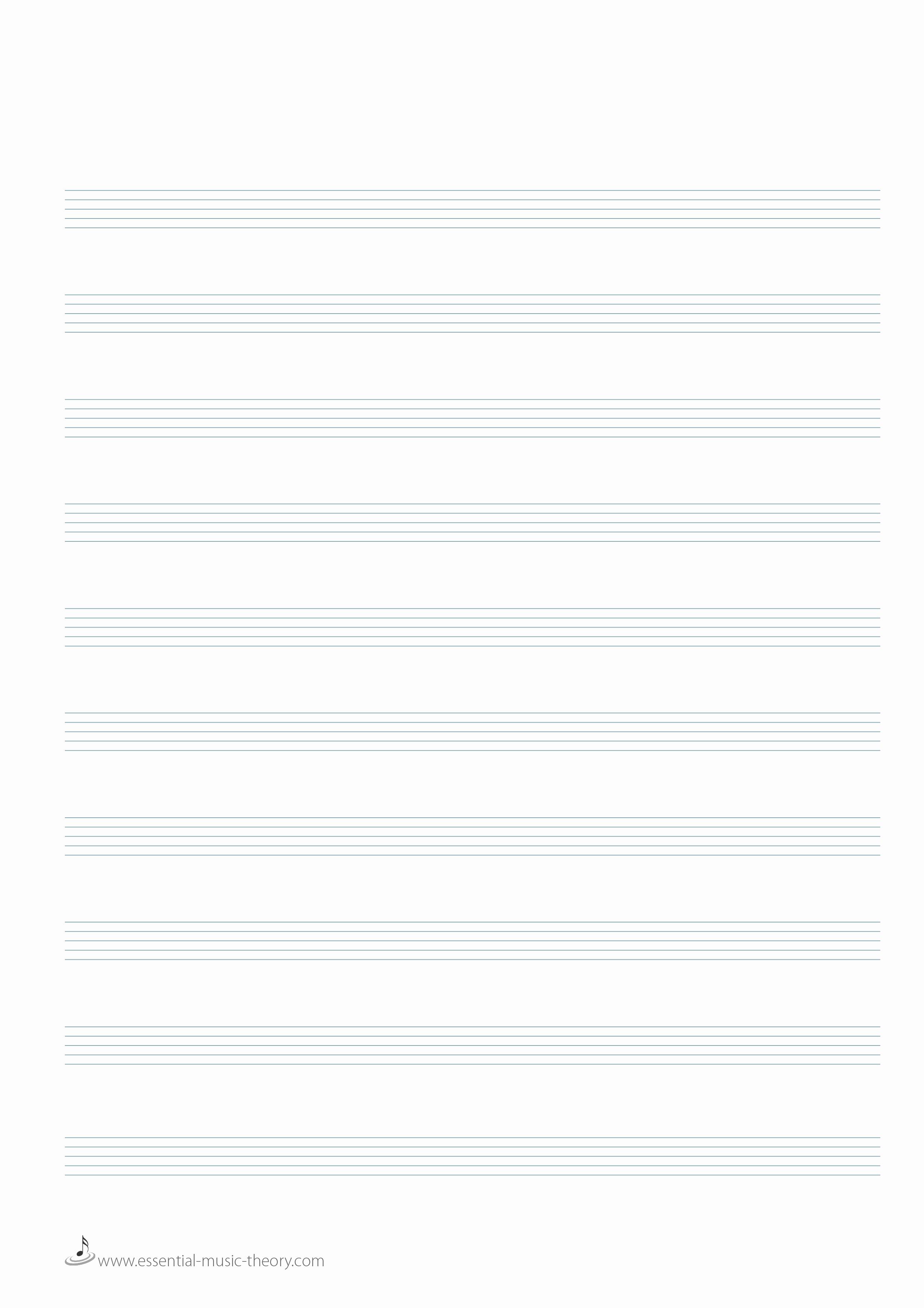 12 Stave Manuscript Paper Pdf Lovely Blank Manuscript Paper