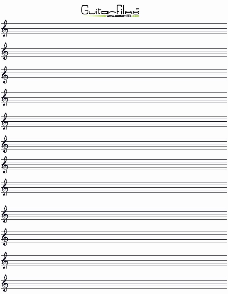 12 Stave Manuscript Paper Pdf Lovely Free Blank Music Sheets for Guitar Printable Musicnotes