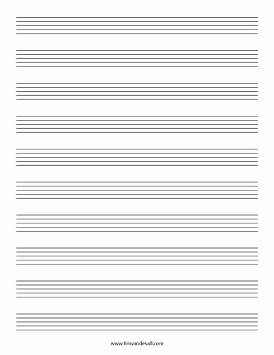 12 Stave Manuscript Paper Pdf Luxury Blank Music Staff Paper Pdf 6 10 12 Stave Sheet Music