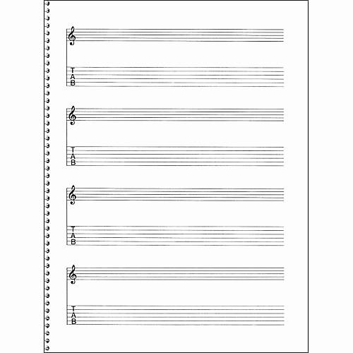 12 Stave Manuscript Paper Pdf New Music Sales Passantino Guitar Manuscript Paper Spiral Pad
