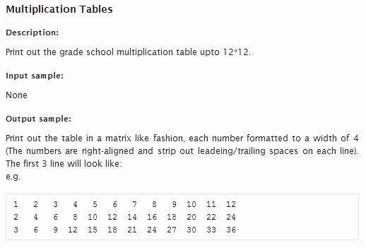 12*12 Multiplication Table Best Of Java How to Align String On Console Output Stack Overflow