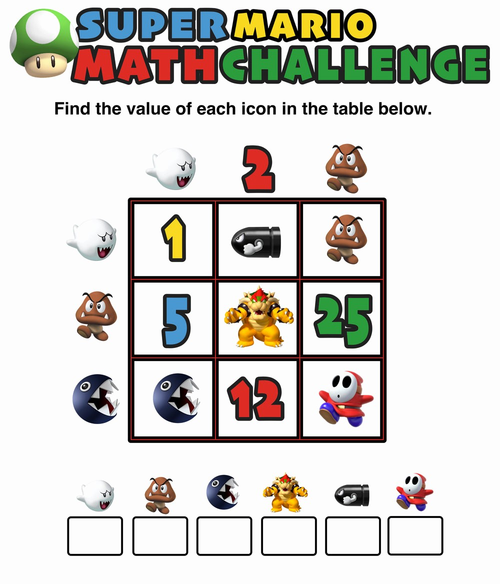 12*12 Multiplication Table Unique Have You Seen these Free Super Mario Math Puzzles