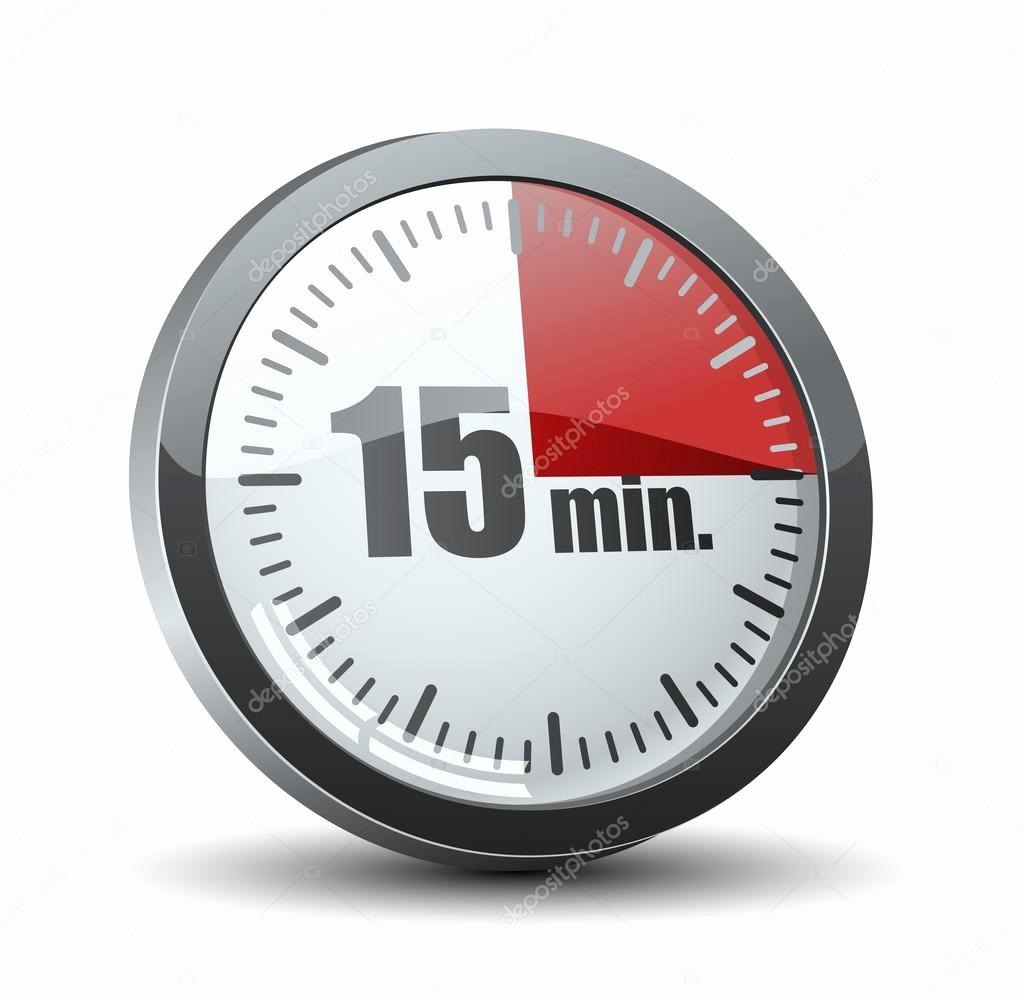 15 Minute Timer with Buzzer Elegant 15 분 타이머 — 스톡 벡터 © Yuriy Vlasenko