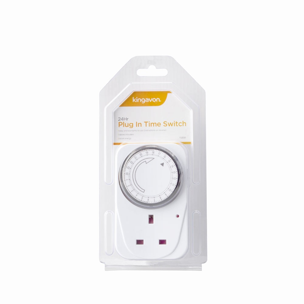 15 Minute Timer with Buzzer Luxury Kingavon 24 Hour Plug In Mains Timer Switches with 15