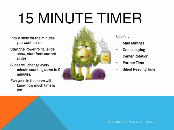 15 Minute Timer with Buzzer Luxury Ppt 15 Minute Timer Powerpoint Presentation Id