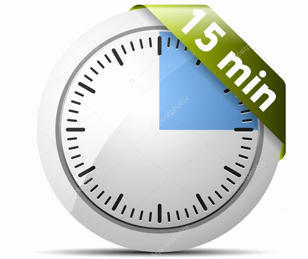 15 Minute Timer with Buzzer New 15 Minutes Timer — Stock Vector © Yuriy Vlasenko
