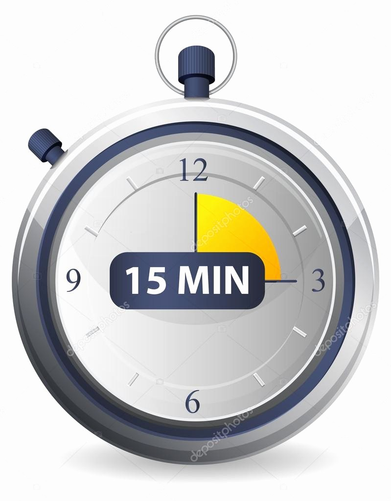 15 Minute Timer with Buzzer Unique Timer Icon 15 Minutes — Stock Vector © Designpraxis