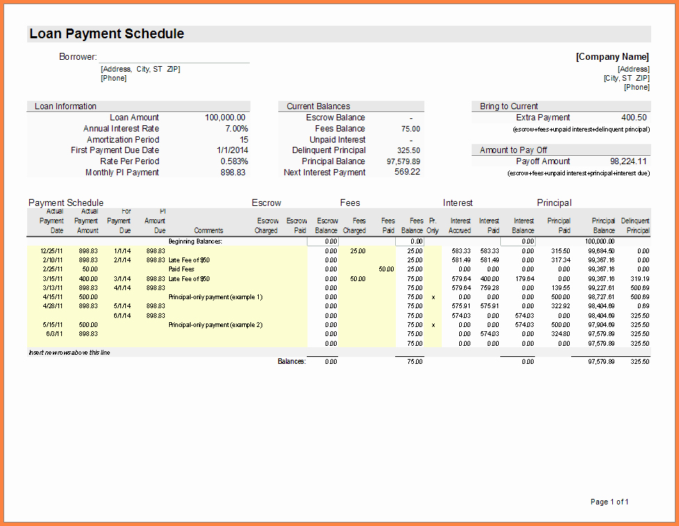 15 Year Amortization Schedule Excel Fresh 9 Home Loan Spreadsheet