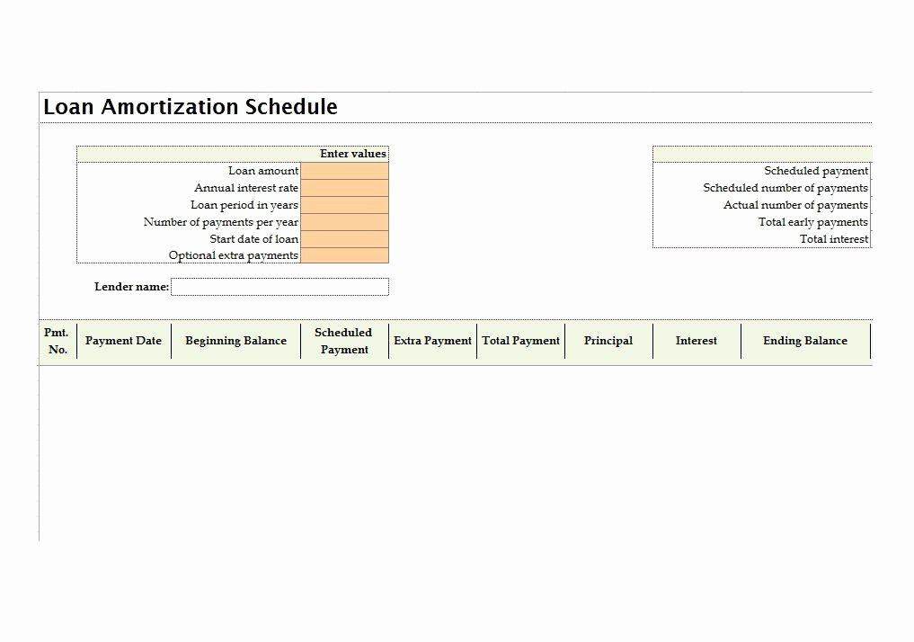 15 Year Amortization Schedule Excel Lovely 28 Tables to Calculate Loan Amortization Schedule Excel