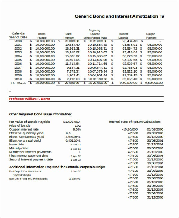 15 Year Amortization Schedule Excel Luxury 7 Amortization Table Samples In Excel
