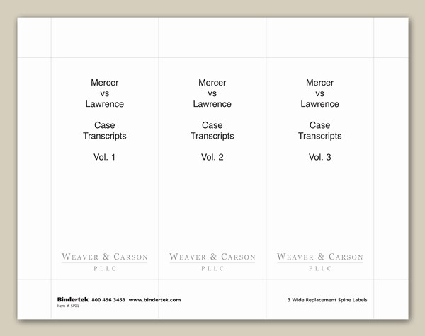 """1"""" Binder Spine Template Awesome Insertable Spine Labels for 4"""" Wide Binders"""