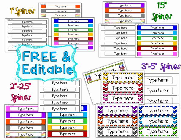"1"" Binder Spine Template Awesome Student Portfolio Binder Spines Free"