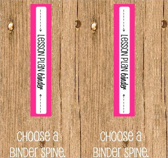 "1"" Binder Spine Template Beautiful 6 Sample Binder Spine Templates"
