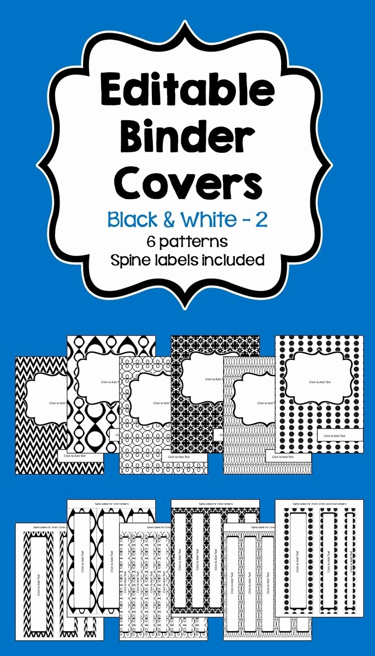 """1"""" Binder Spine Template Beautiful organize Your Classroom with these 6 Different Designs Of"""