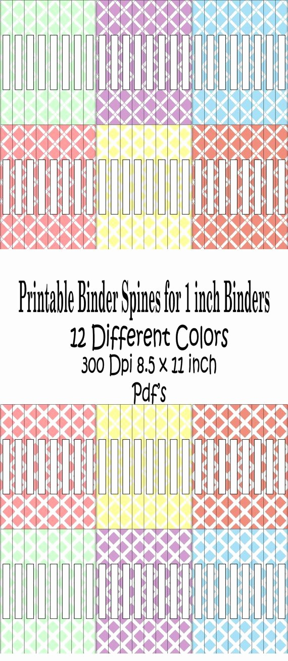"1"" Binder Spine Template Lovely Printable Binder Spine Pack Size 1 Inch6 by"