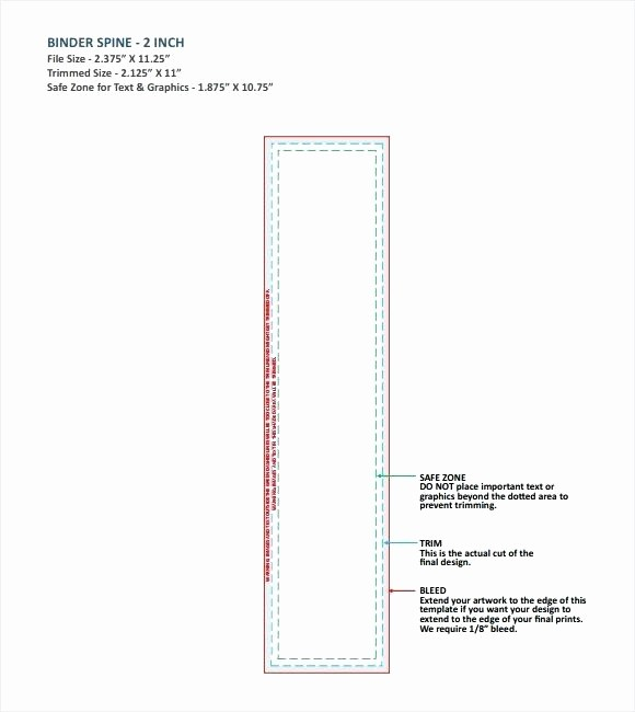 "1"" Binder Spine Template New Avery 3 Binder Spine Insert Template 1 X 2 Label Inch"