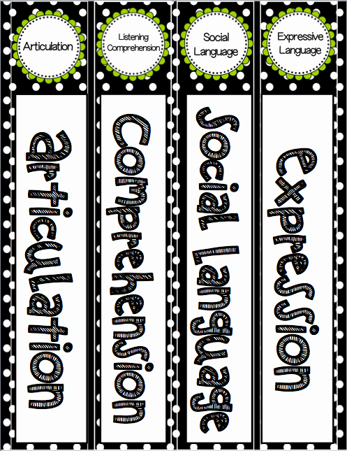 "1"" Binder Spine Template Unique Editable Speech and Language Binder Labels Speech 2u"