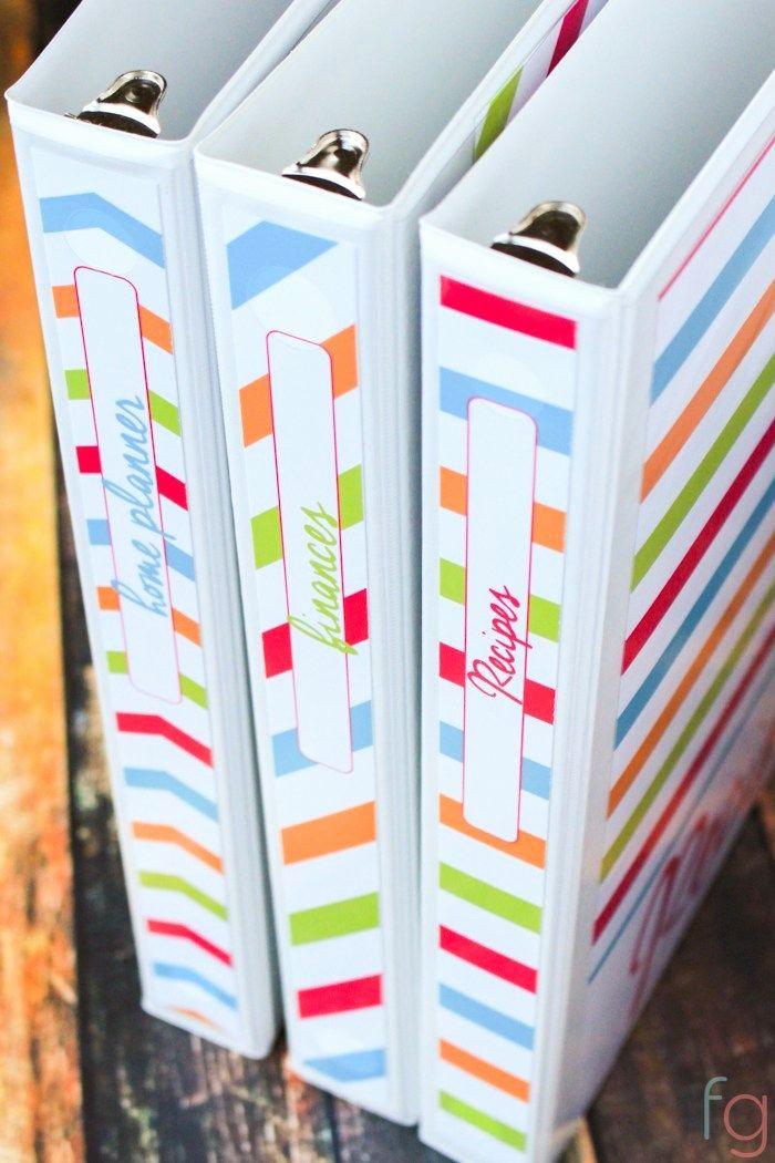 "1"" Binder Spine Template Unique Free Binder Covers Printable Recipe Binder Finance"