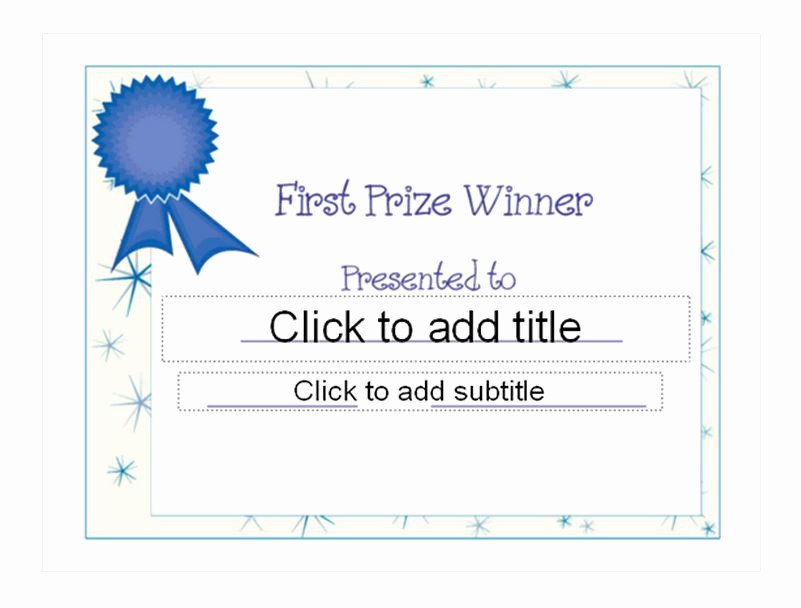 1st Place Certificate Template Word Best Of First Place Award Template