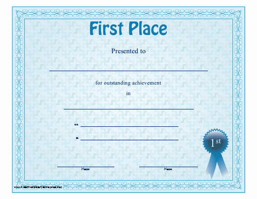 1st Place Certificate Template Word Elegant Certificate Design Gallery Category Page 1
