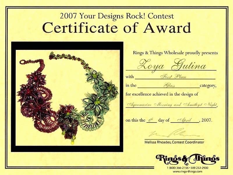 1st Place Certificate Template Word Elegant Doc Certificate Participation format Speech Contest