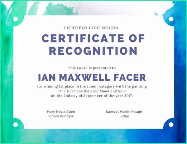 1st Place Certificate Template Word Fresh Useful First Place Certificate Template Word for Art Award