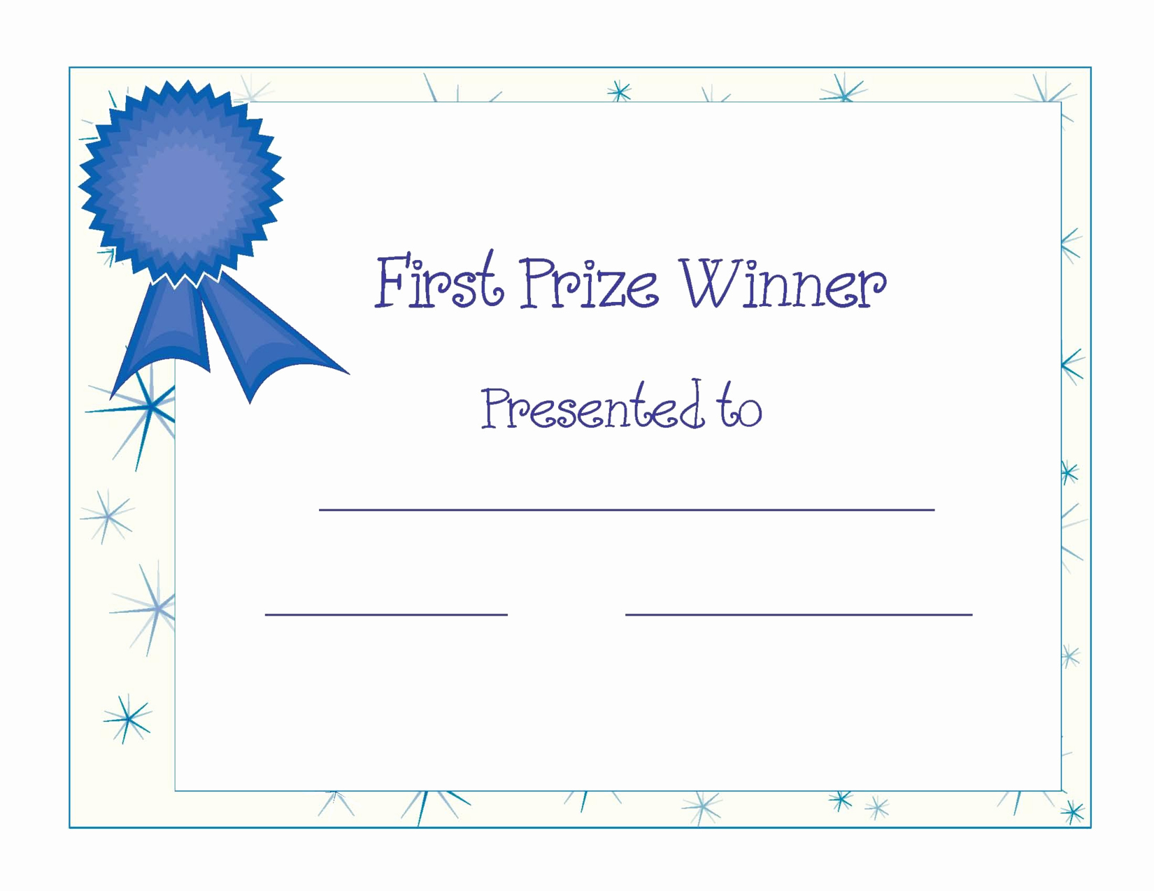 1st Place Certificate Template Word Luxury Blank Award Templates Portablegasgrillweber