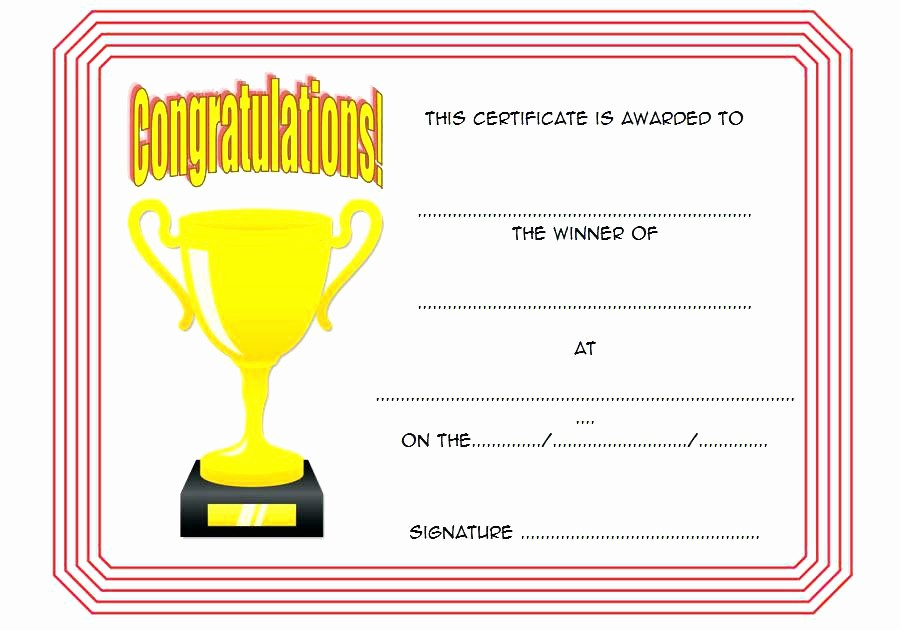 1st Place Certificate Template Word New Blank Certificates First Prize Winner Certificate Winning