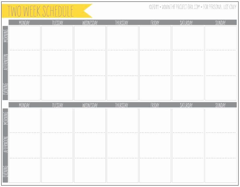 2 Week Calendar Template Word Elegant Two Week Calendar Template Word