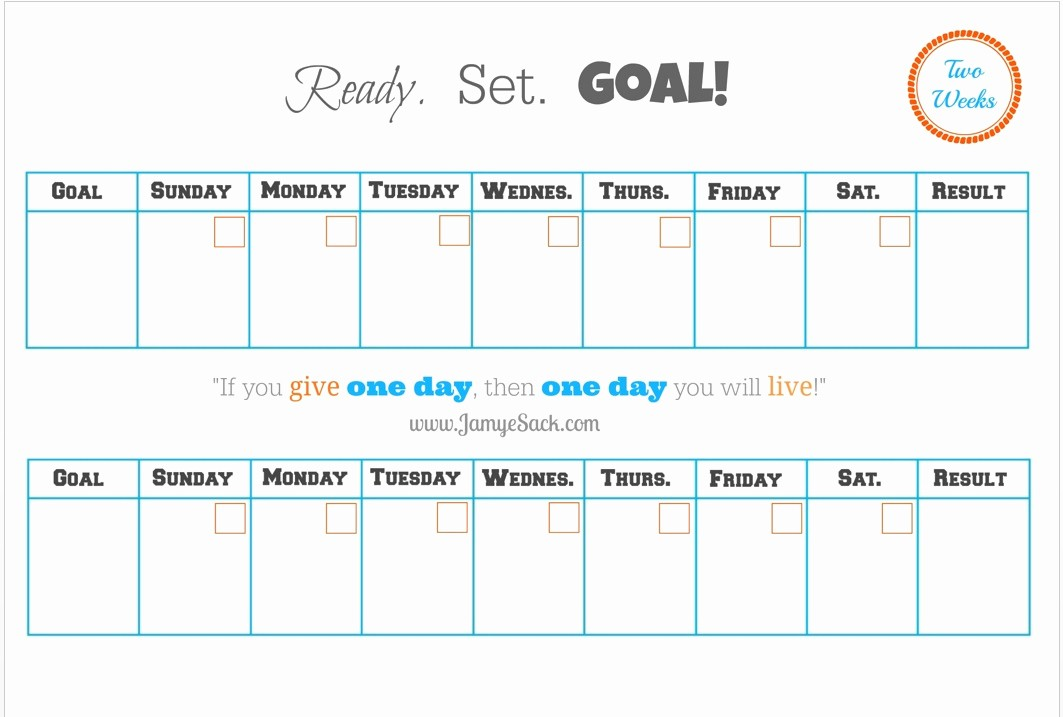2 Week Calendar Template Word Fresh [free Printable] Two Week Goal Calendar – Jamye Sack