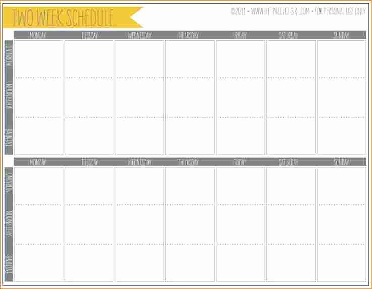 2 Week Calendar Template Word Inspirational 2 Weeks Calendar Template Business Proposal Templated